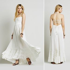 Free People Extratropical Maxi Dress Ivory Sm NWT